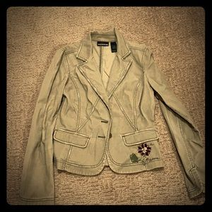 DKNY Jeans Beige Cord Jacket Size M